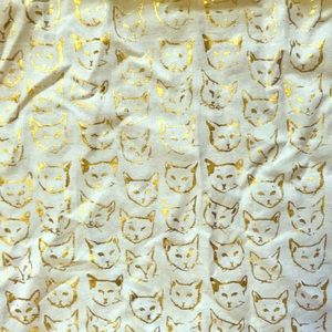 ANTHROPOLOGIE Gold cat apron